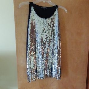 Sequin party tunic top